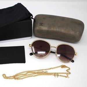 Chanel Pantos Sunglasses - Gold/Brown Gradient